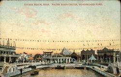 Revere Beach, Mass. Water Basin-Chutes, Wonderland Park