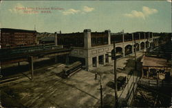 Bird's Eye View of Forest Hills Elevated Station