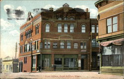 Street View of Post Office Postcard