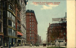Tremont Street from Common, Showing Hotel Touraine