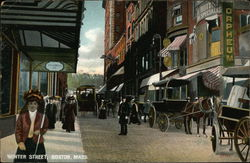 Carriages and Pedestrians on Winter Street