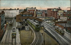 Bird's Eye View of Dudley Street Elevated Station