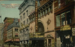 Washington Street, from Eliot showing Globe Theatre