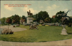 Public Garden, showing Statue of George Washington