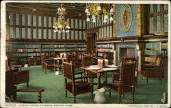 Library at the Hotel Touraine Postcard