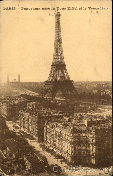 Panorama of the Eiffel Tower and Trocadero Paris France