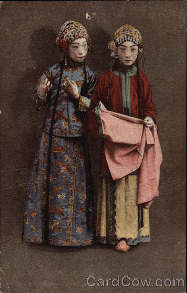 Two Women in Native Costume Japan
