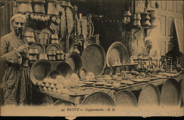 Coppersmith With His Wares Egypt Africa