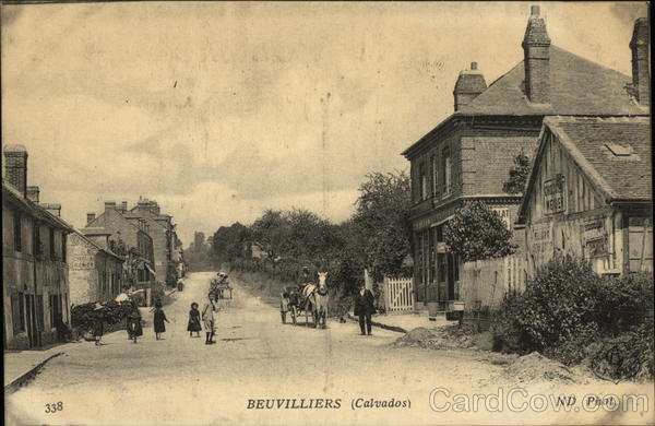 Street Scene Beuvilliers France