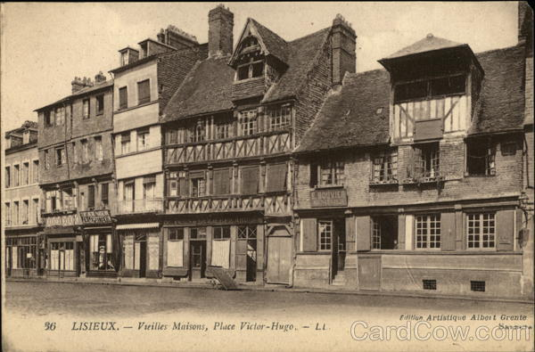 Place Victor Hugo and Old Houses Lisieux France Albert Grente