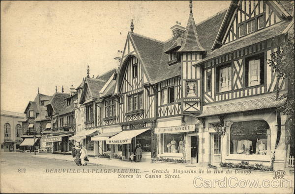Stores in Casino Street Beauville-La-Plage-Fleurie France