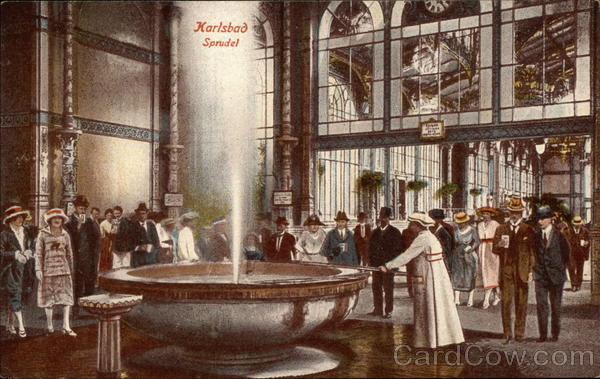 Karlsbad Sprudel (Carlsbad Bubble, in English) Karlovy Vary Czechoslovakia