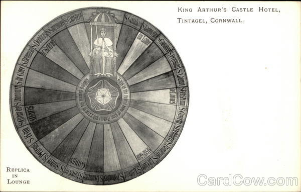King Arthur's Castle Hotel - Round Table Replica Tintagel England