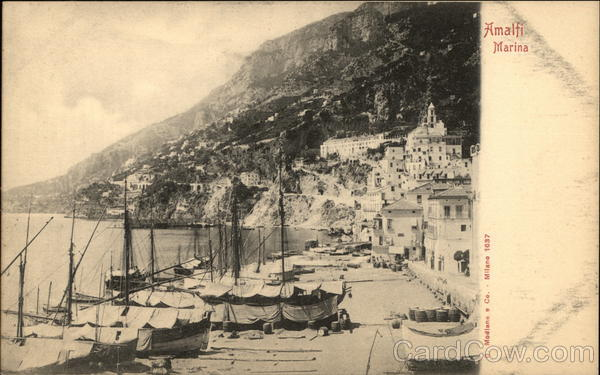 Town and Harbor Amalfi Italy