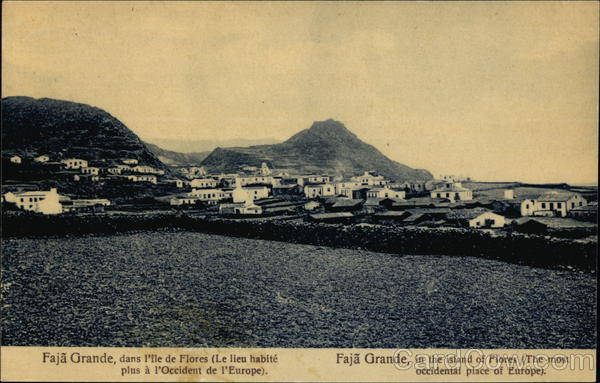 Faja Grande, in the Island of Flores (The most occidental Place of Europe) Lajes das Flores Portugal