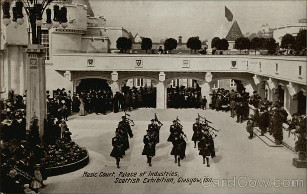Music Court, Palace of Industries, Scottish Exhibition, Glasgow 1911 Scotland