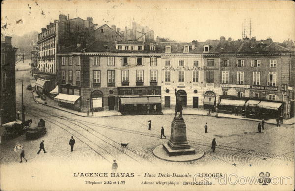 Place Dussonbs Limoges France