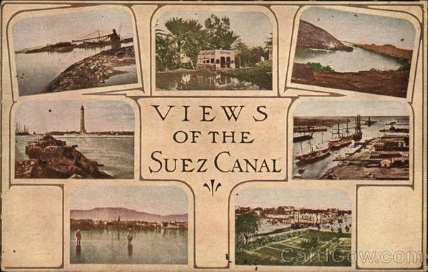 Views of the Suez Canal Egypt Africa