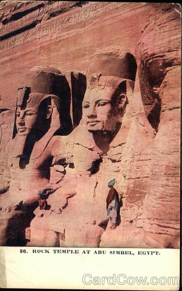 Rock Temple at Abu Simbel Egypt Africa