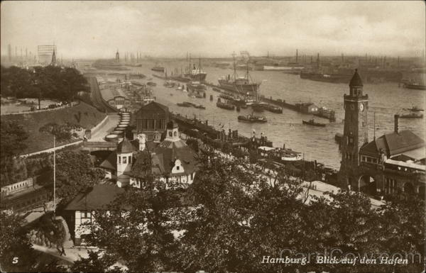 View of the Harbour Hamburg Germany