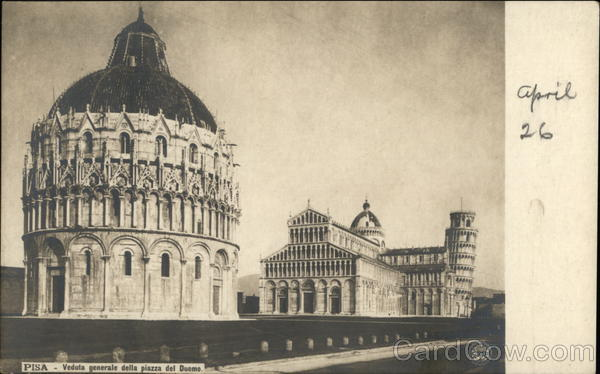 General View of the Piazza Del Duomo Pisa Italy