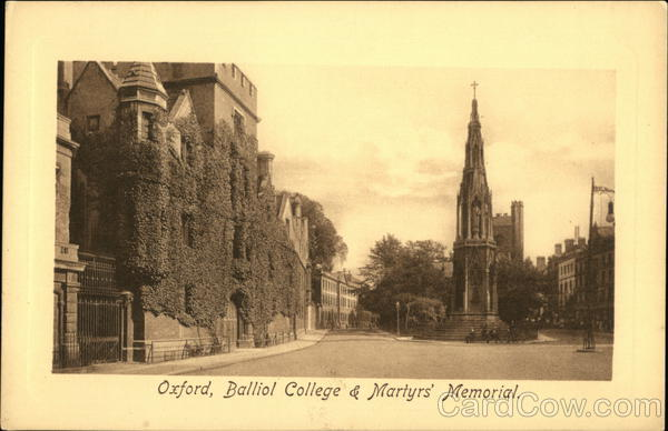 Balliol College & Martyr's Memorial Oxford England