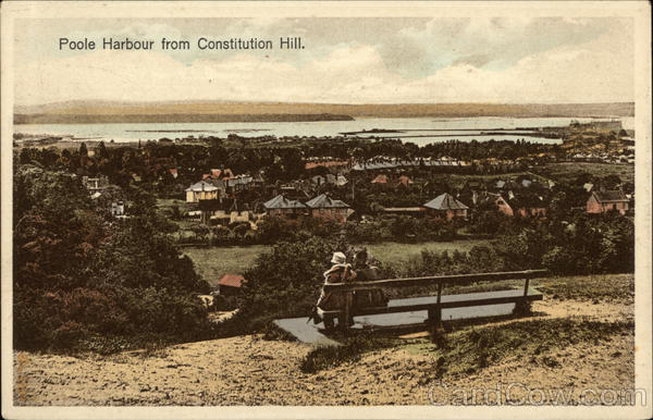 Poole Harbour From Constitution Hill England