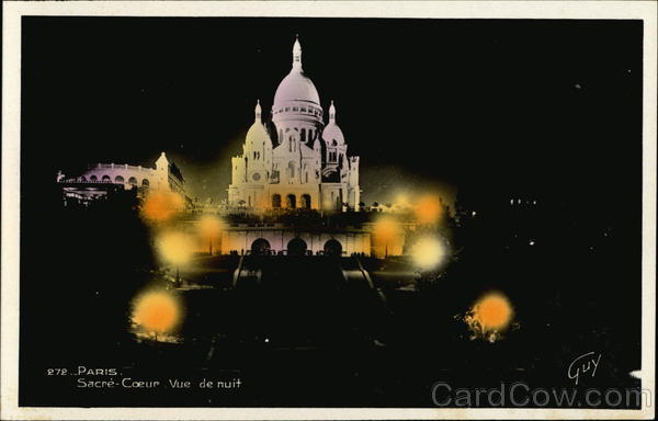 Sacre Couer at Night Paris France Guy