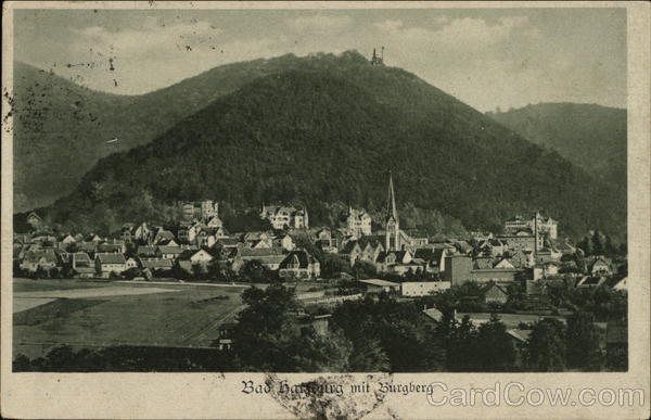 View of Town with Burgberg Bad Homburg Germany