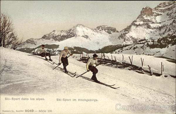 3 Men Skiing - Mountains