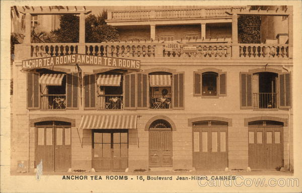 Anchor Tea Rooms, 16 Boulevard Jean-Hibert Cannes France