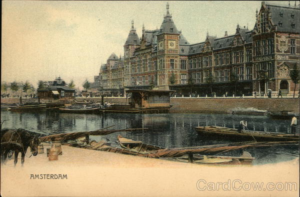Amsterdam - View of Canal The Netherlands Benelux Countries