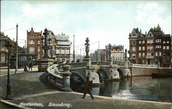 Blauwbrug Amsterdam The Netherlands Benelux Countries