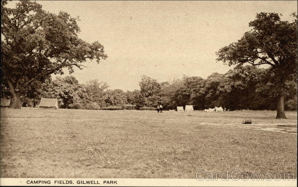 Canmping Fields Gilwell Park England Boy Scouts