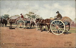 Australian Sheep Station - Rabbit Poison Carts