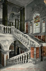 Grand Marble Stairway, City Hall, Belfast, Northern Ireland