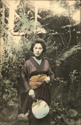 Japanese Woman in a Garden