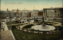 View of St. John's Gardens Postcard