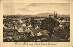 Canton Roofs with French Catholic Cathedral Postcard