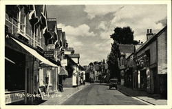 View of the High Street, Wargrave Postcard