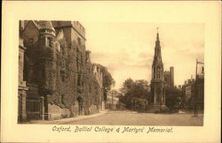 Balliol College & Martyr's Memorial Postcard