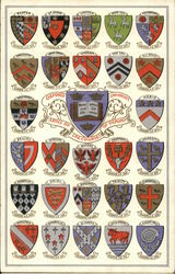 Oxford University - Arms of the Colleges of Oxford Postcard