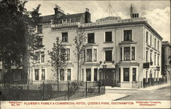 Flower's Family & Commercial Hotel, Queen's Park Postcard