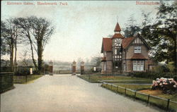 Entrance Gates, Handsworth Park Postcard