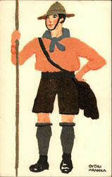 Painting of Boy Scout