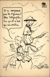 French Boy Scouts - Cartoon