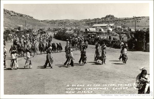 A Scene at the Inter-Tribal Indian Ceremonial Gallup New Mexico