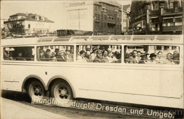 Tour Bus Dresden Germany