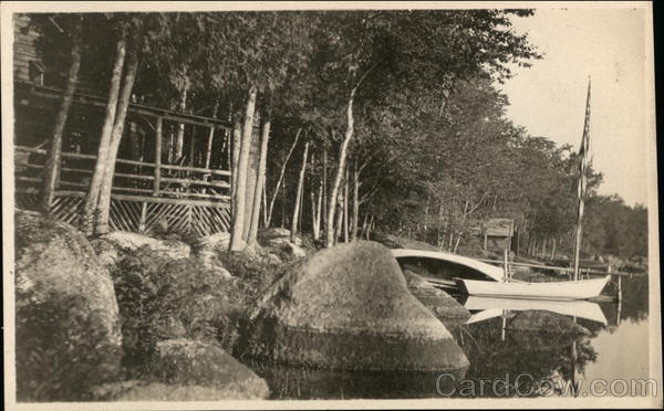 Boats and Cabins on Lake Maine