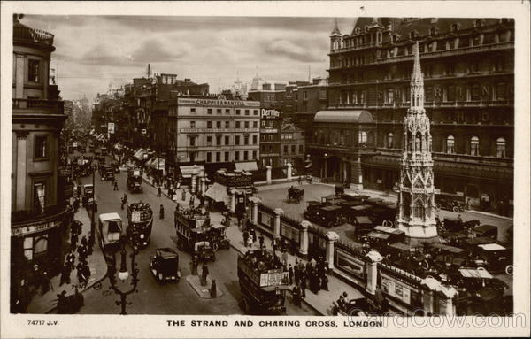 Bird's Eye View of The Strand and Charing Cross London England